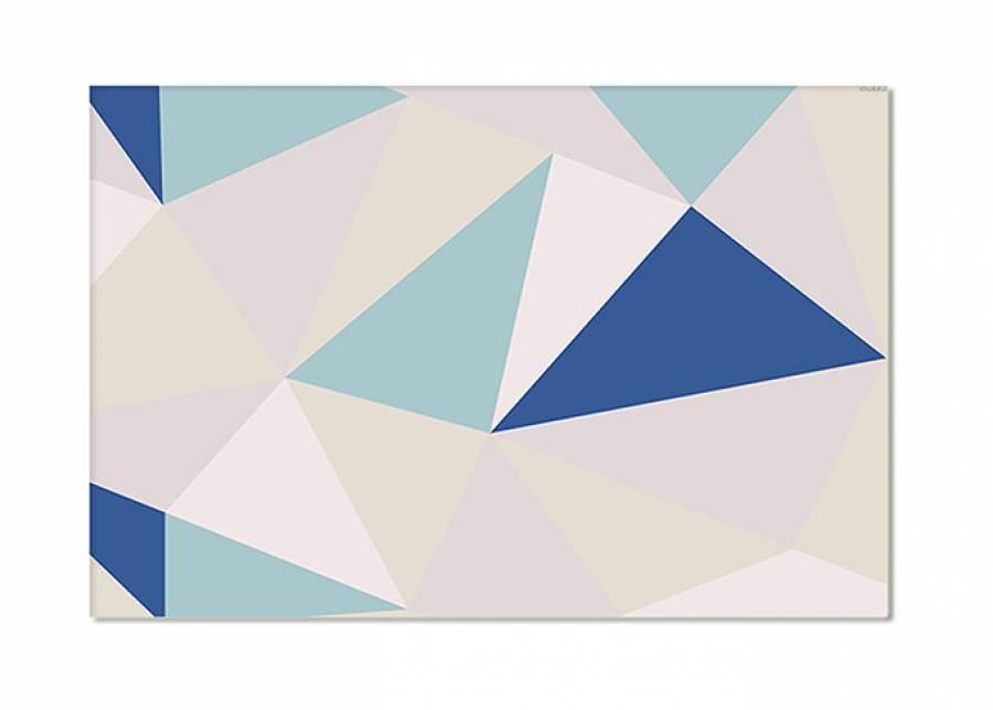 ¡Origami a todo color! Los diseños geométricos quedan bien en cualquier rincón, y con esta alfombra vinílica podrás co