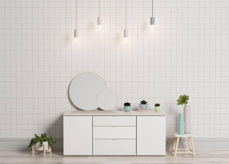 ¡Be different! Añade estilo y modernidad a tu espacio con un original mueble aparador para TV modular. Con dos armarios con puerta y cajones
