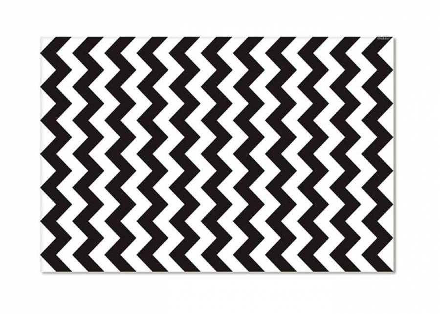 ¡Zigzag en grande! Las alfombras vinílicas están pensadas para las habitaciones de los más peques de la casa, por su durabilidad, pe