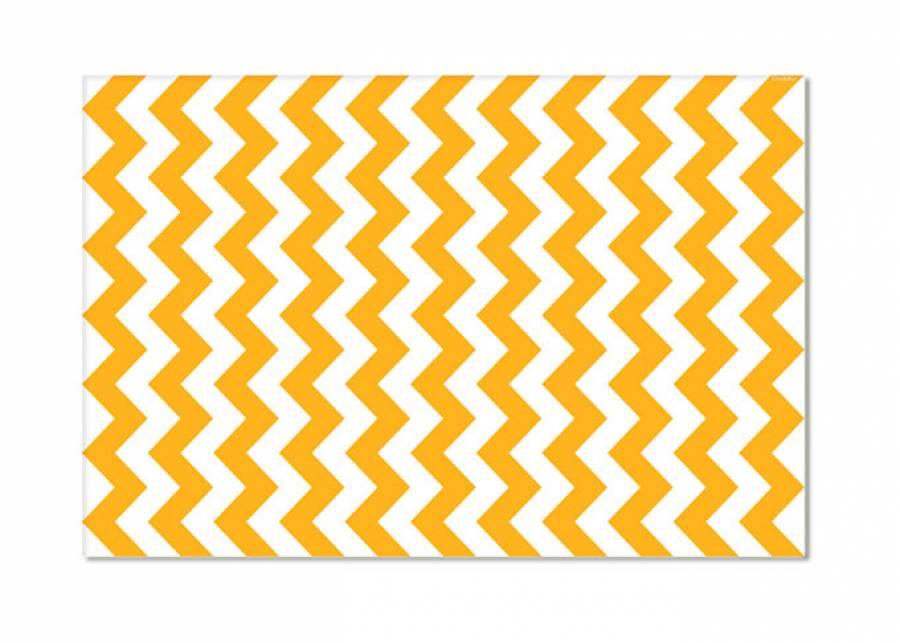 Zigazag mostaza Nos encantan las alfombras vinílicas por su textura, su funcionalidad, sus propiedades higiénicas y porque no necesitan ning&uacu