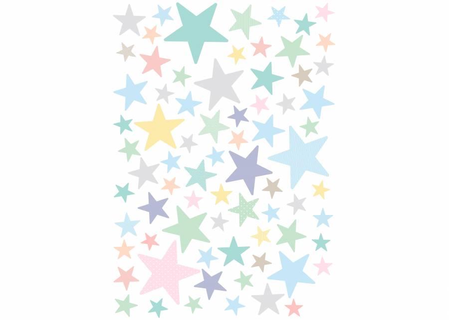 Estrellitas color pastel Para cualquier superficie, utiliza estas estrellas en tonos pastel para crear una explosión de color en el dormitorio de los m&