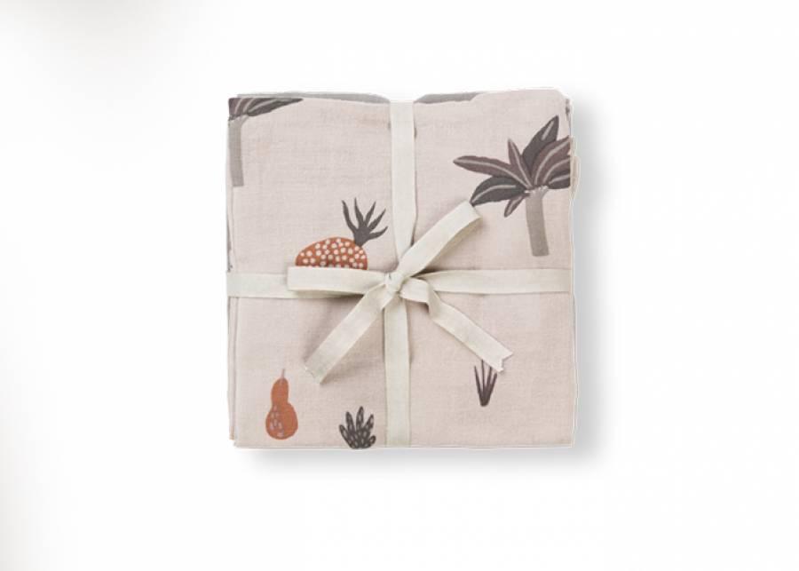 ¡Suavidad tropical! Los paños de muselina de algodón orgánico nunca pueden faltar en un hogar con niños pequeños, son