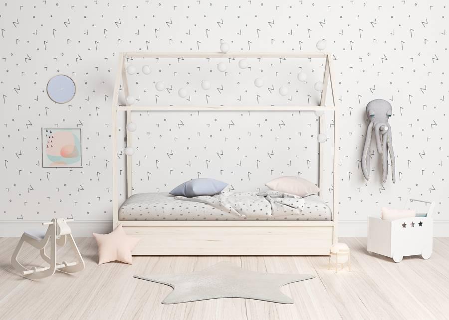¡Un dormitorio muy mono! El dormitorio de tu peque será el más bonito con esta casita cama con cama nido inferior, la estructura en madera