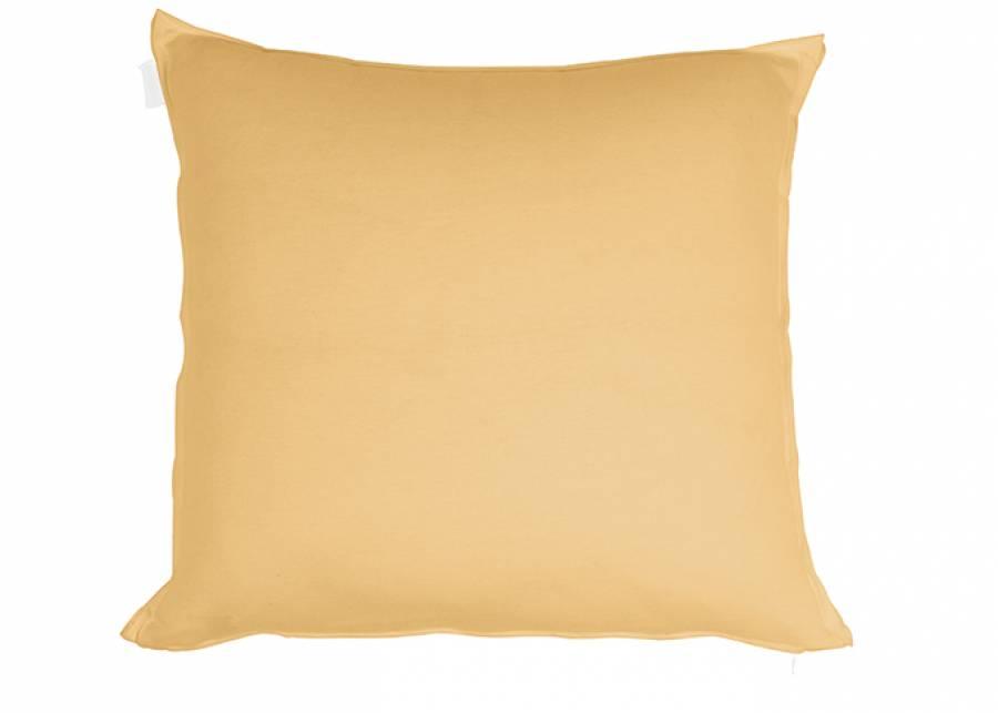 """<p style=""""text-align: justify;""""><strong>Coj&iacute;n liso de 45 x 45, color ocre.</strong> El toque de color que tu cama necesita.&nbsp;</p>"""