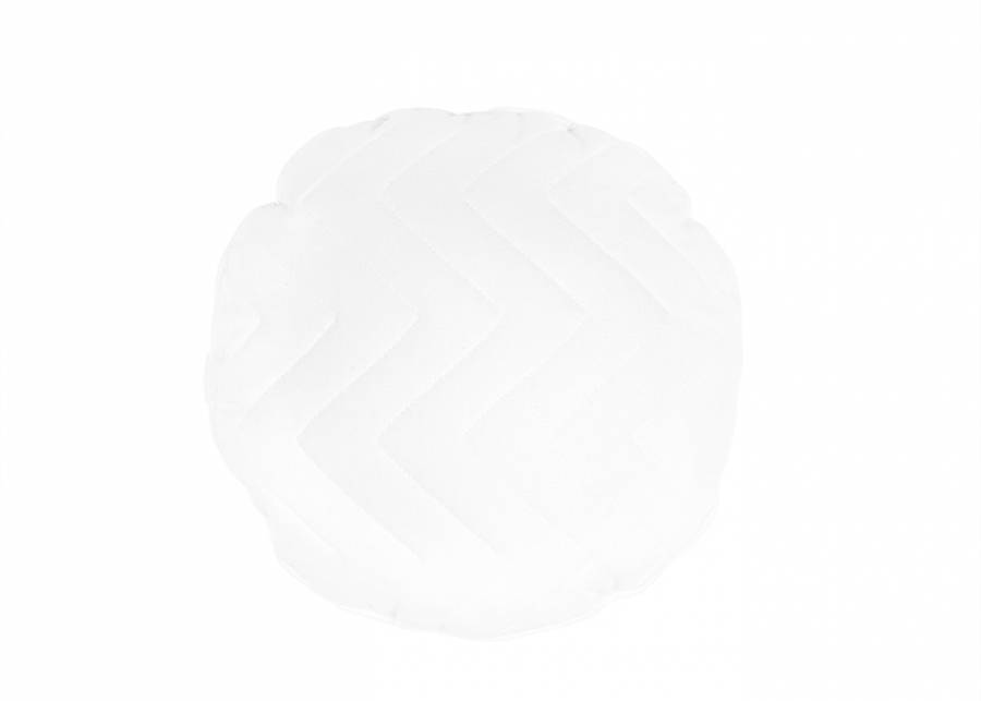 "<p style=""text-align: justify;""><strong>Coj&iacute;n decorativo redondo di&aacute;metro de 40 con costura zig-zag, en color blanco</strong>. Un detalle sencillo a la vez que diferente, que le dar&aacute; un toque a tu cama o sof&aacute;.&nbsp;</p>"