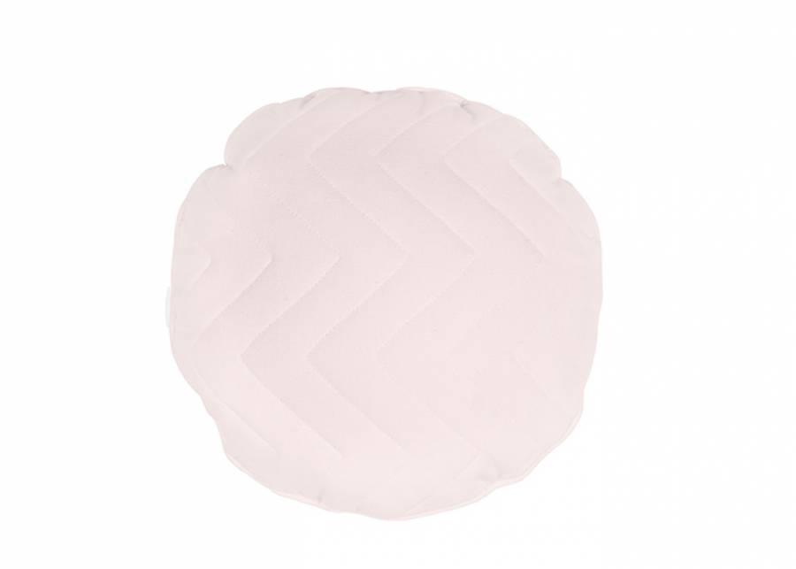 Cojín decorativo redondo diámetro de 40 con costura zig-zag, en color malva. Un detalle diferente y único que quedará genial en el d