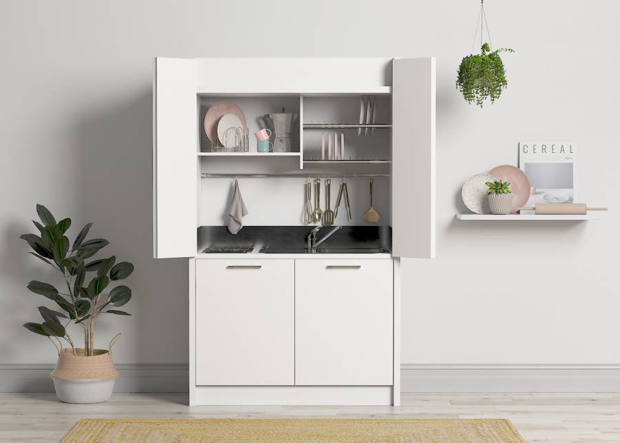 ¡La mini cocina más rústica! ¿Una cabaña sin cocina? ¿Una rústica estancia donde empezar a cocinar? Así