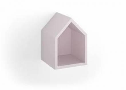 Estante en forma de casita rosa
