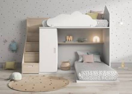 Litera infantil en forma de casita