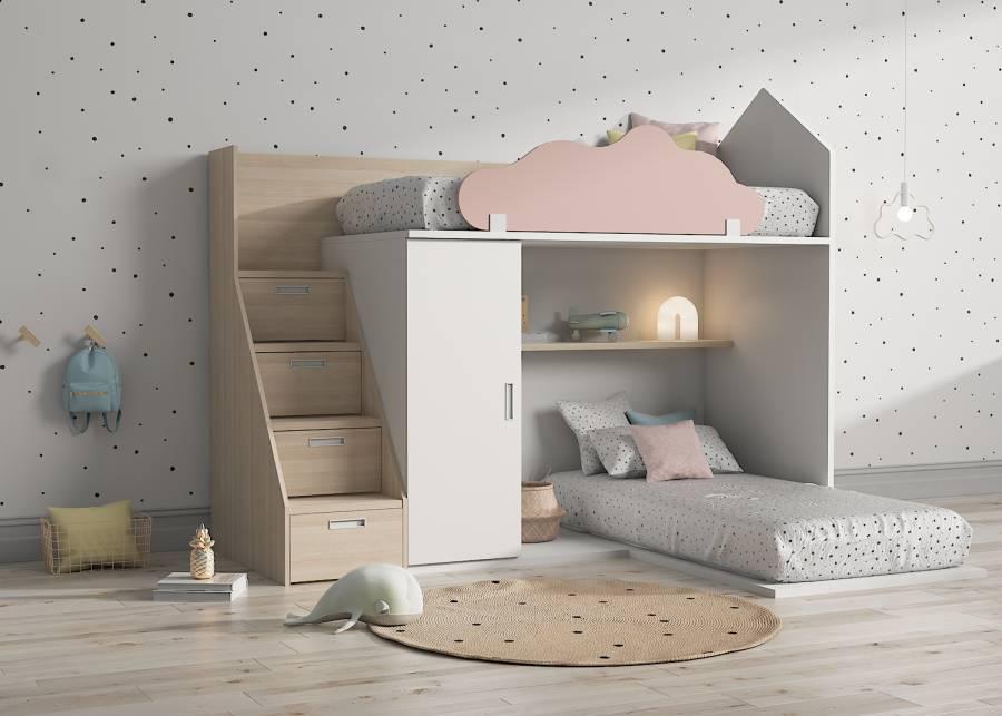 Dormir tocando el cielo... No vamos a decir que dormir en esta litera es una experiencia celestial pero casi...Los dormitorios infantiles ya no son como
