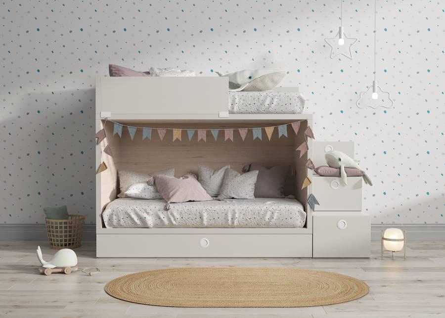<h3>&iexcl;Nuestra litera estrella, 3 camas en 1!</h3> <p>Que nadie se quede sin asistir a la pijamada de tu peque, con esta <strong>litera infantil y juvenil de 3 camas</strong>, <strong>optimiza el espacio en el dormitorio</strong> gracias a esta<strong> litera con cama nido de arrastre inferior</strong>&nbsp;y&nbsp;&nbsp;<strong>escaleras de contenedores, 2 tipo puerta y 1 caj&oacute;n.</strong></p>